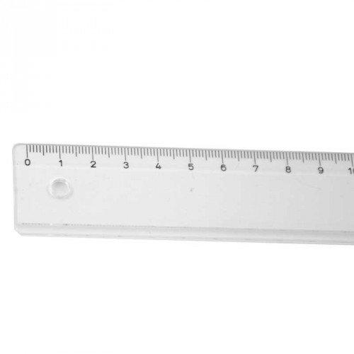 RUMOLD Schullineal transparent 20cm