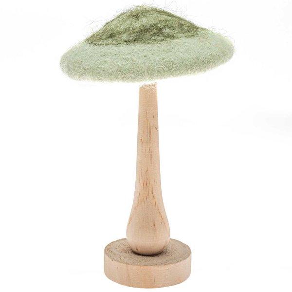 Dekopilz auf Fuß grün 18cm