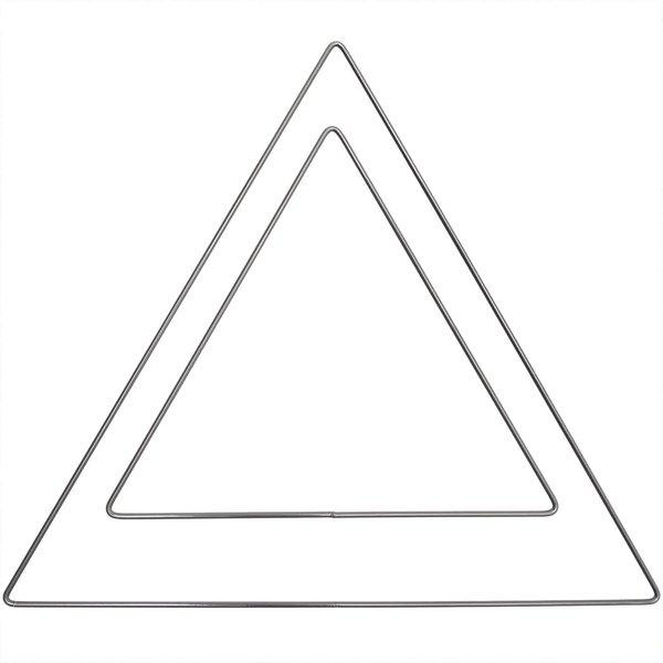 Rico Design Metallring Dreieck anthrazit