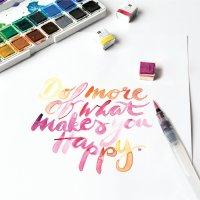 Anleitung Watercoloring Schriftzug mit der Blending-Technik