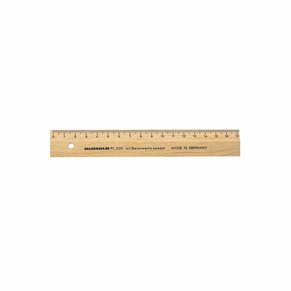 RUMOLD Holzlineal natur mit Bienenwachs 17cm