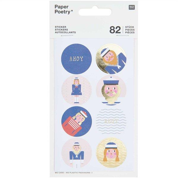 Paper Poetry Sticker Matrosen 4 Blatt