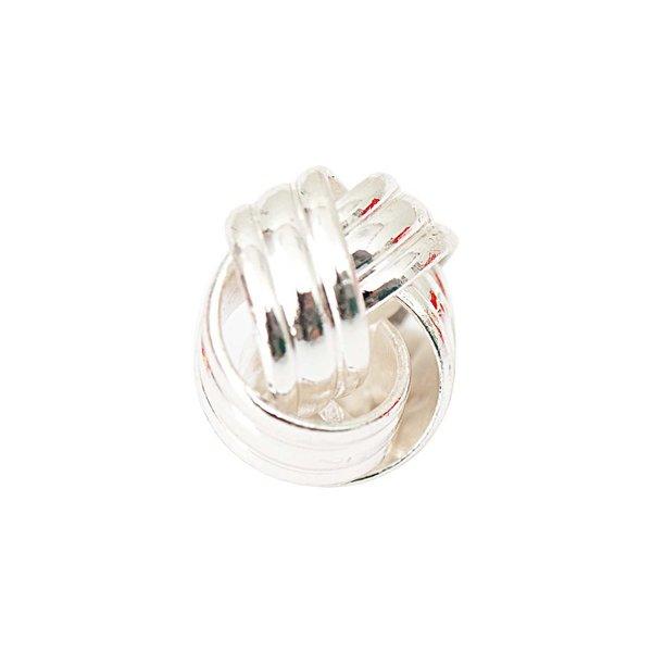 Jewellery Made by Me Metallknoten silber 14x8mm 2 Stück