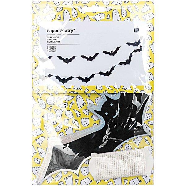 Paper Poetry Girlande Halloween Fledermaus 3m