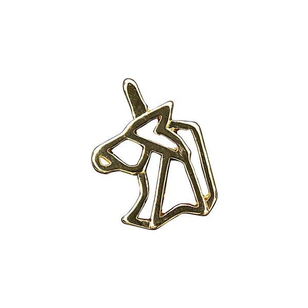 Jewellery Made by Me Anhänger Einhorn Origami gold 16x16mm