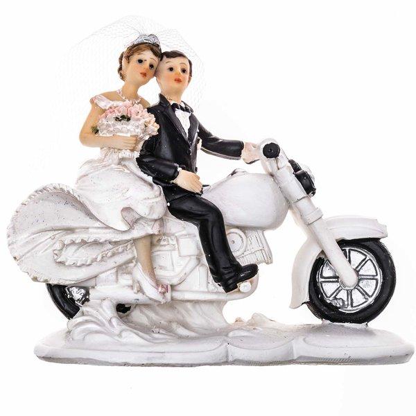 Brautpaar auf Motorrad 13cm