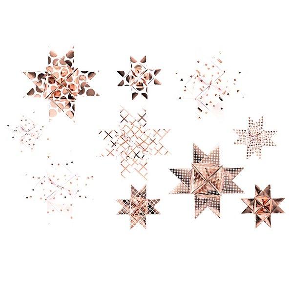Paper Poetry Fröbelstreifen Graphic weiß-roségold 40 Stück Hot Foil