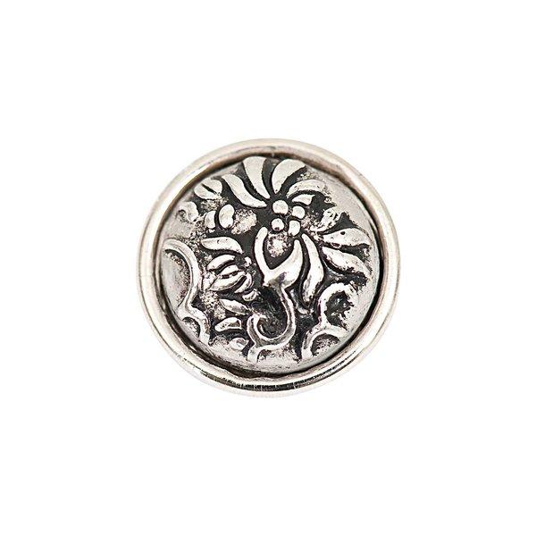 Rico Design Knopf Blüten silber 14mm