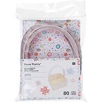 Paper Poetry Papierstreifen Romantic Flowers 80 Stück