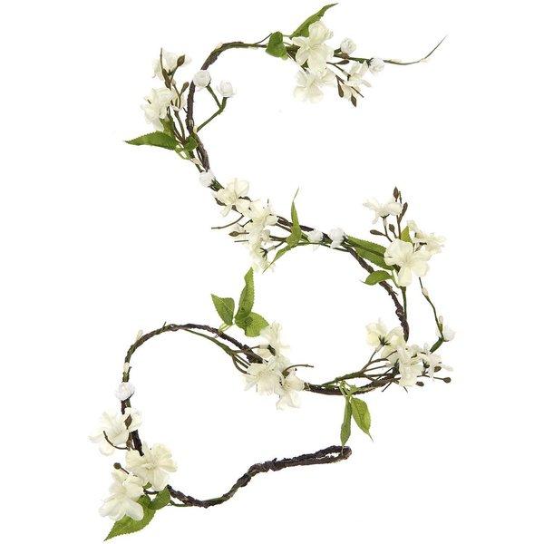 Blütengirlande weiß 130cm