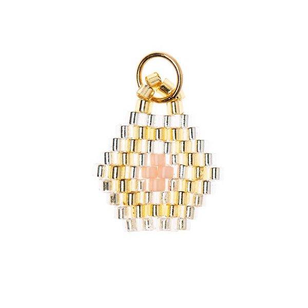 Mix it Up - Jewellery Brick Stitch Sechseck gold 14x16mm