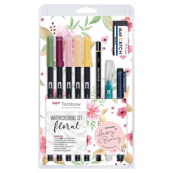 Tombow Watercoloring Set Floral by May & Berry