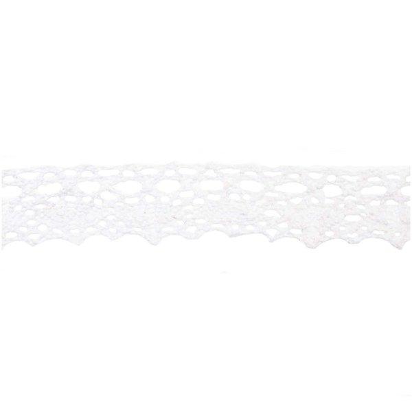 Häkelkante Spitze weiß 2cm 3m