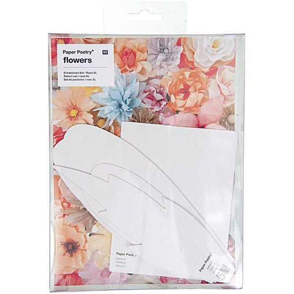 Paper Poetry Schablonenset für Dahlie XL 5teilig
