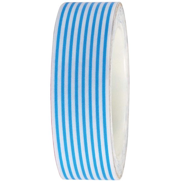 Rico Design Tape weiß-blau gestreift 15mm 10m