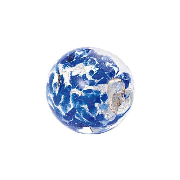 Jewellery Made by Me Kugel blau-weiß 14mm Glas 2 Stück
