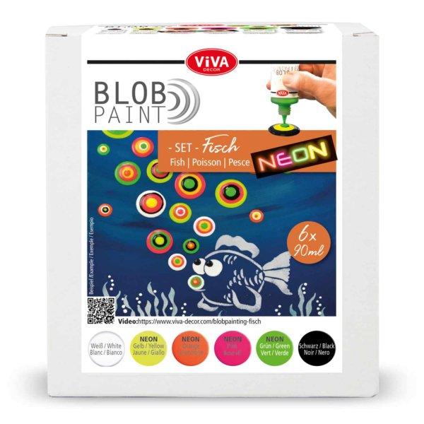 Viva Decor Blob Paint Set Fisch 6x90ml