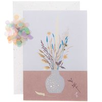 Paper Poetry Grußkartenset Blumenvase