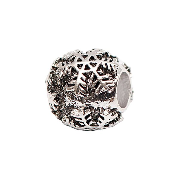 Rico Design Perle Schneekristall versilbert 13x9mm