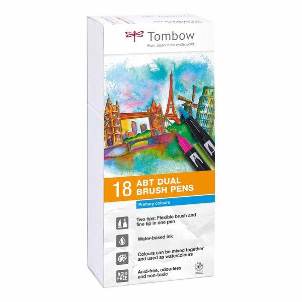 Tombow ABT Dual Brush Pen Primärfarben 18er Set
