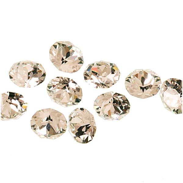 Rico Design Strass-Steine spitz crystal 4mm 10 Stück