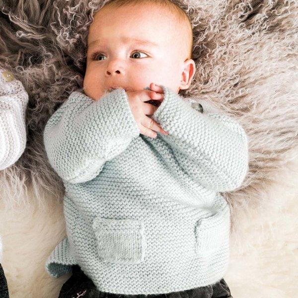 Strickset Pullover Modell 5 aus Rico Baby Nr. 022