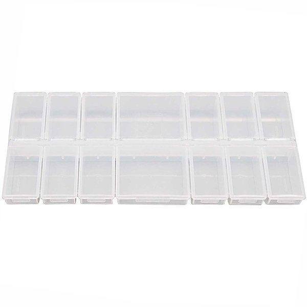 Rico Design Sortierbox mit 14 Fächern 24,2x11x2,8cm