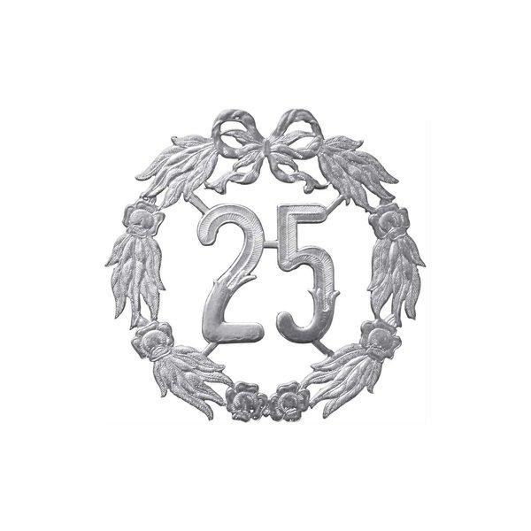 HEYDA Jubiläumskranz 25 silber 18cm