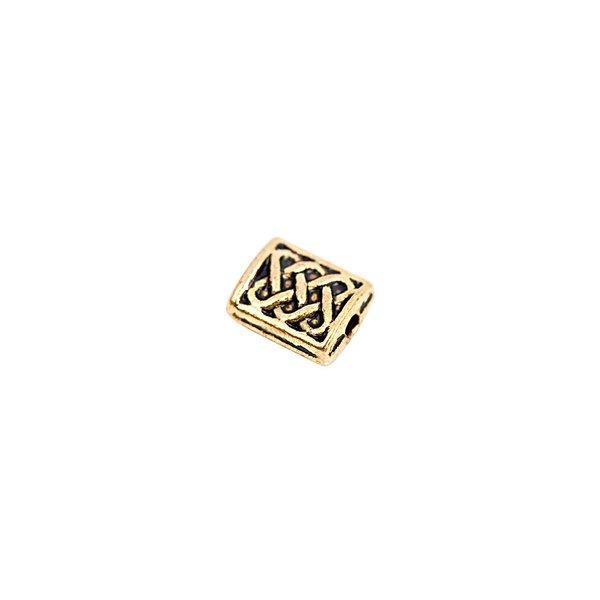 Rico Design Rechteck Ornament gold-schwarz 4x5mm 20 Stück