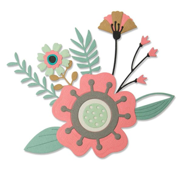 Sizzix Thinlits Die Set Creative Florals