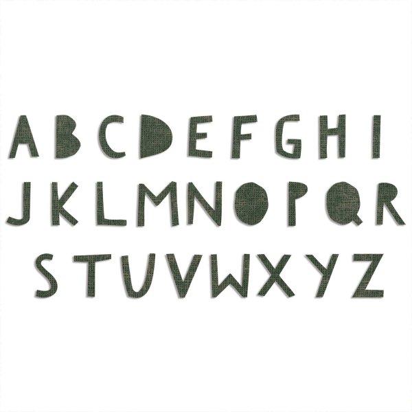Sizzix Bigz XL Alphabet Die - Cutout Upper by Tim Holtz