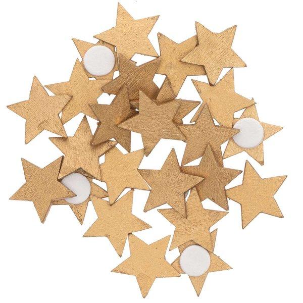 Ohhh! Lovely! Holzsticker Sterne gold 20x19mm 24 Stück
