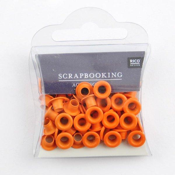 Rico Design Ösen orange 7mm 50 Stück