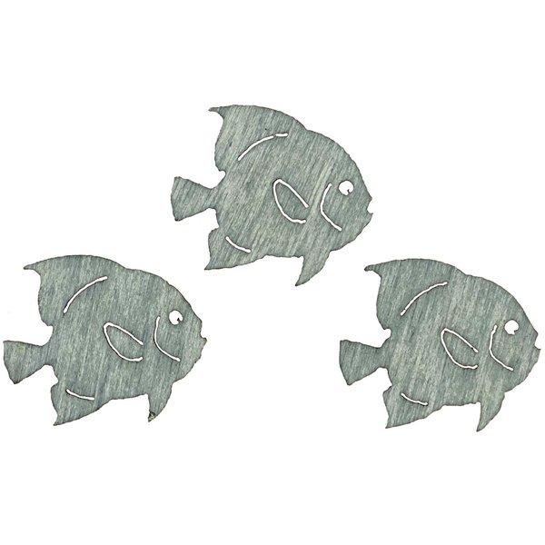 Streu Fische 2cm Holz blau 24 Stück