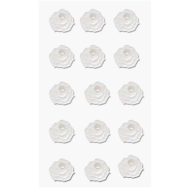Paper Poetry 3D Sticker Blumen mit Perle