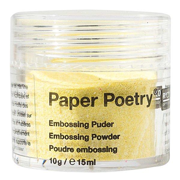 Paper Poetry Embossingpuder gelb perlmutt 10g