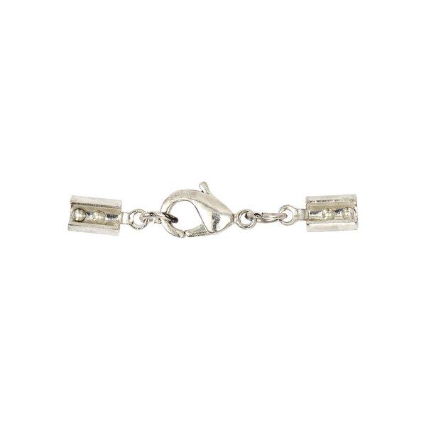 Jewellery Made by Me Lederbandverschluss silber 3mm