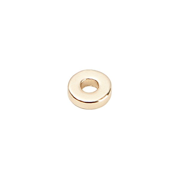 Rico Design Scheibe rund gold 6mm 35 Stück