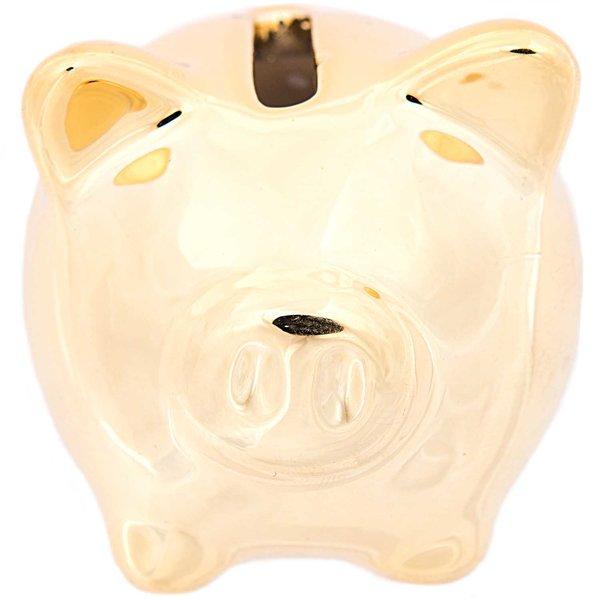 Sparschwein gold 5,5x5cm Porzellan
