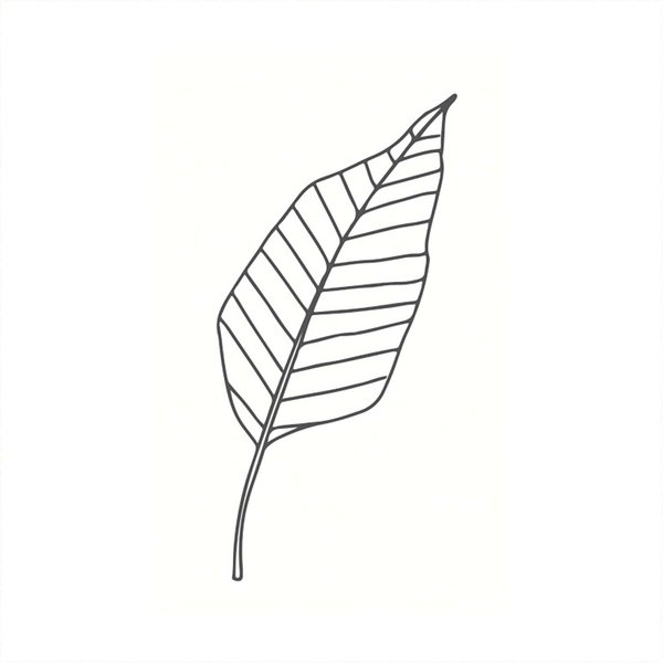 May&Berry Stempel Blatt stilisiert weiß 35x55mm