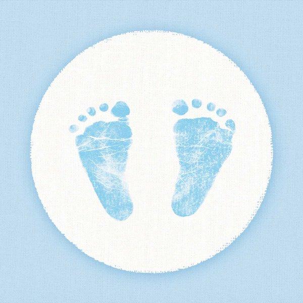Ambiente Serviette Baby Steps Boy 33x33cm 20 Stück