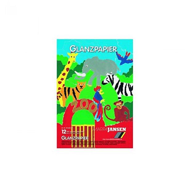 MARPA JANSEN Glanzpapier Packung mehrfarbig 22,5x32,5cm 12 Bogen