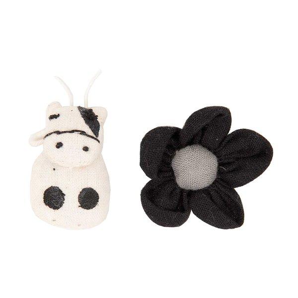 Rico Design Stofffiguren Kuh und Blüte 2 Stück