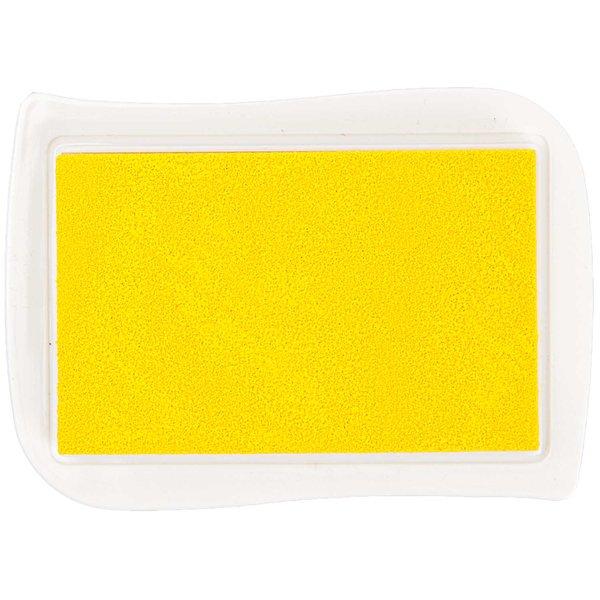 Rico Design Textil Stempelkissen gelb 9,5x6,6cm