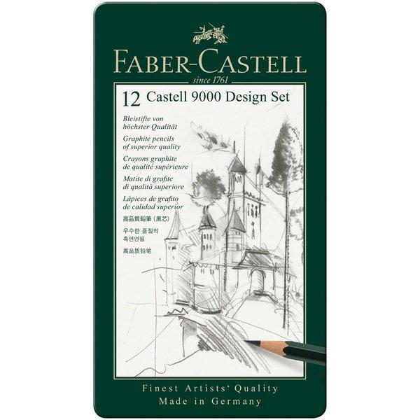 Faber Castell Castell 9000 Design Set Metalletui 12teilig