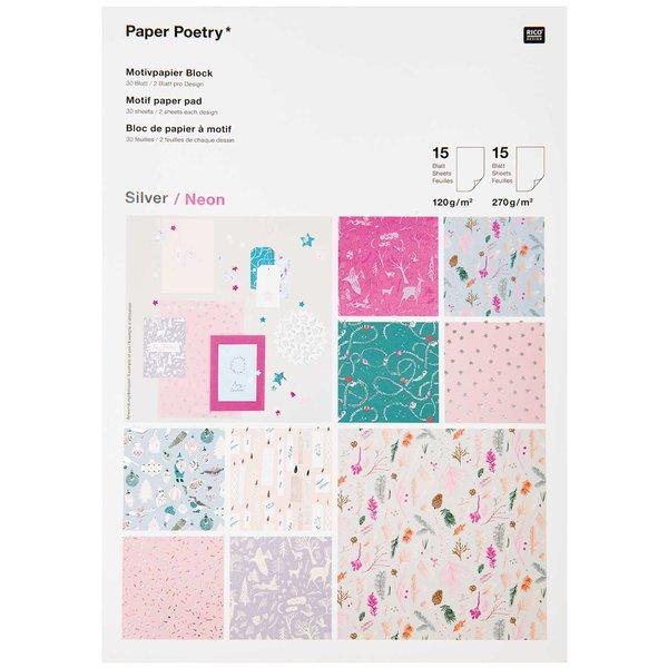 Paper Poetry Motivpapier Nostalgic Christmas pastell 30 Blatt