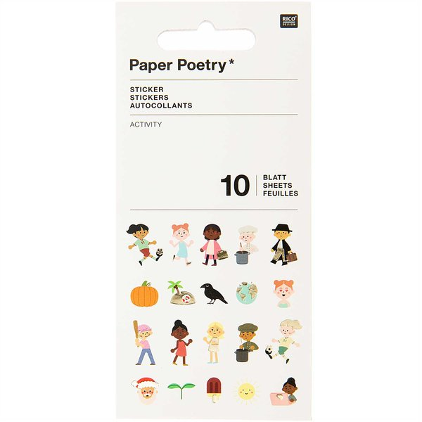 Paper Poetry Stickerbuch Activity 10 Blatt