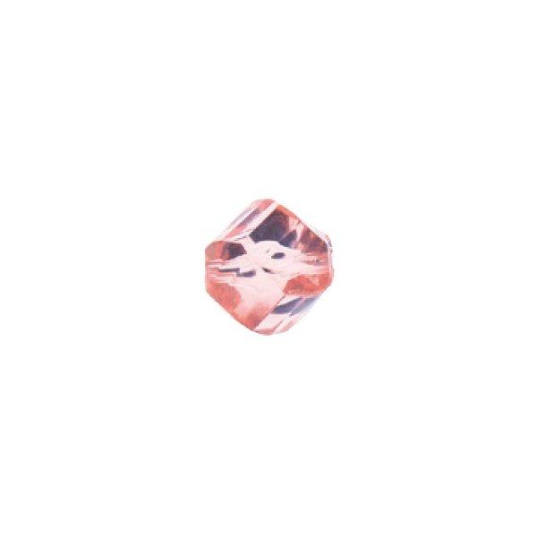 Rico Design Kugel geschliffen rosa-transparent 10x9mm 10 Stück