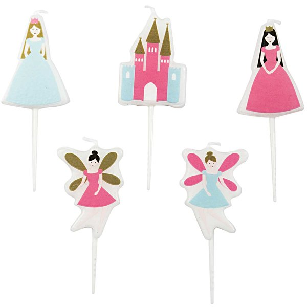 YEY! Let's Party Kerzen Prinzessin 5 Stück
