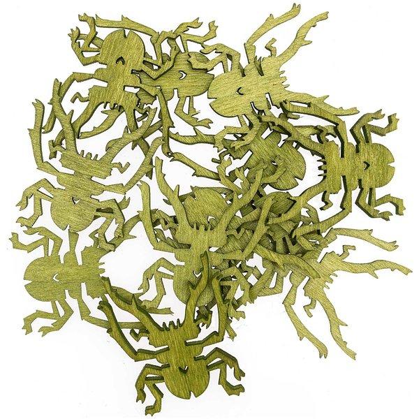 Streu Käfer grün 4cm 12 Stück